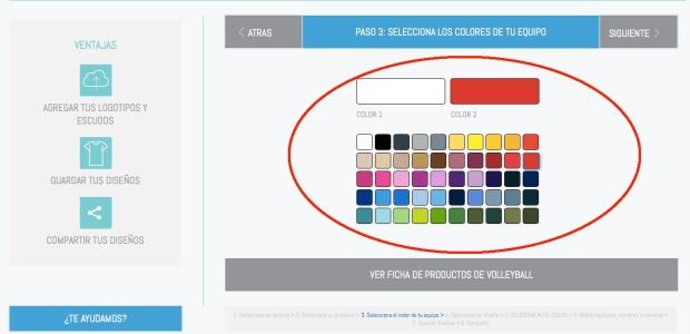 Colores camiseta